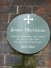 Photo of James Martineau green plaque