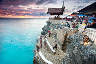 'Jump On In', Jamaica, Negril, Ricks Cafe Sunset | by WanderingtheWorld (www.ChrisFord.com)
