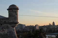 Vista de Havana e de mirador de La Cabaña