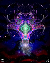 outer space(0.0), symmetry(1.0), fractal art(1.0), universe(1.0), space(1.0), star(1.0), nebula(1.0), psychedelic art(1.0), galaxy(1.0), circle(1.0), illustration(1.0), astronomical object(1.0),