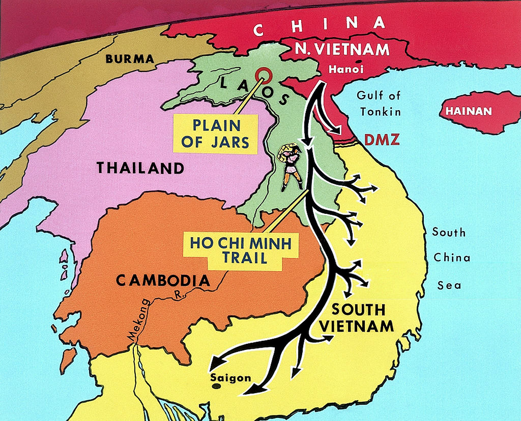 Ho Chi Minh Vietnam Map.Vietnam War 1970 Map Of The Ho Chi Minh Trail A Photo On Flickriver