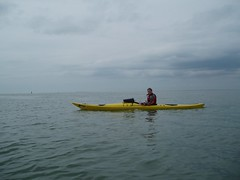 Helen part-way across The Solent Image