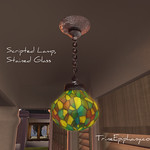 Stained Glass Lamp Scripted 3D Model