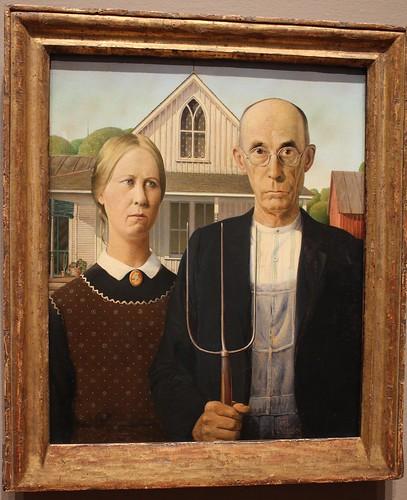 American Gothic, Wood (1930)