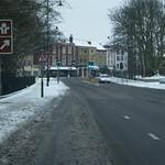 Looking along Brompton road into Gillingham