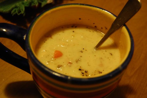 creamy turkey & wild rice soup