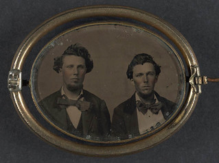 [Brothers Private George W. Detrick of Company F, 23rd Ohio Infantry Regiment and Private Samuel Detrick of Company A, 63rd Pennsylvania Infantry Regiment in a brooch] (LOC)