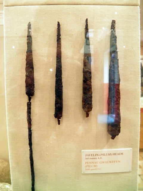 Javelin (pilum) heads, National Roman Legion Museum