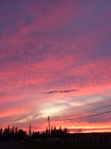pink sunset sky clouds newbrunswick