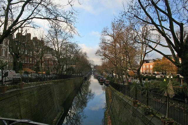 View towards Little Venice from Cafe Laville