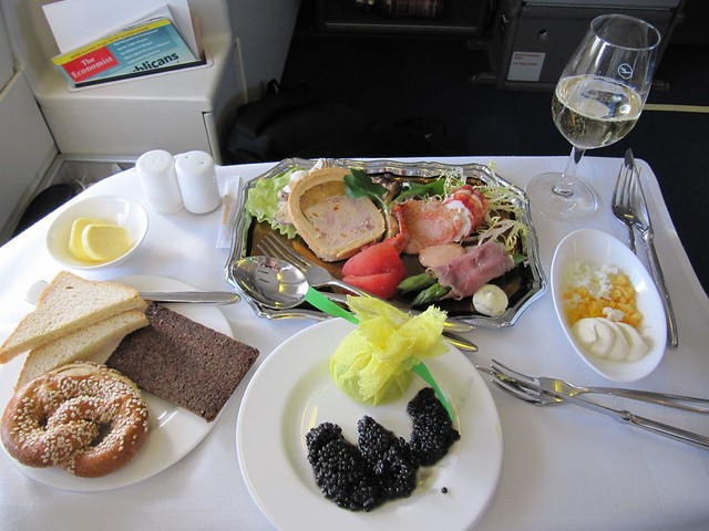 Lufthansa First Class Food | Flickr - Photo Sharing!