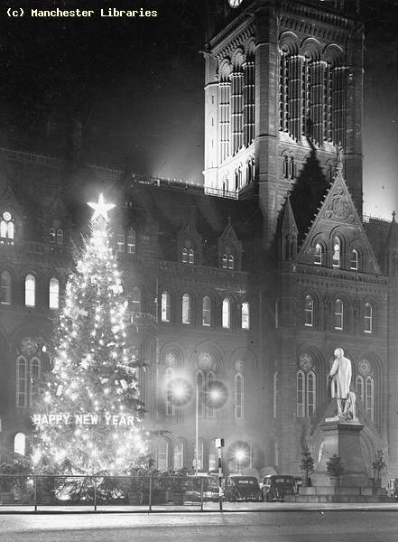 Albert Square, Christmas Tree, Manchester, 1953