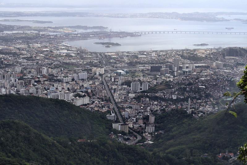 Looking north from Corcovado, Rio de Janeiro