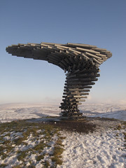 The Singing Ringing Tree, Crown Point, Burnley, Lancashire (SD 851289)