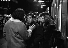 Coppola, Pacino and Keaton, The Godfather set, by Harry Benson 1971