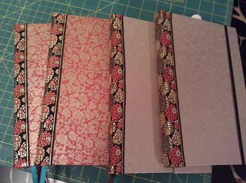 <p>four more books ready to list tomorrow. seven more book blocks ready to turn into books. oh yes.</p>
