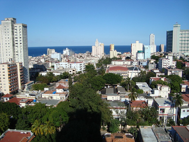 View over Vedado District from Hi-Rise Apartment - Havana - Cuba - 01