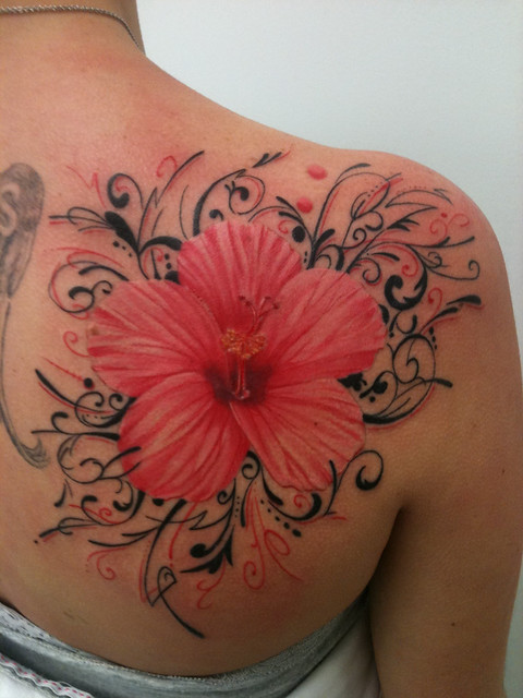 Hibiscus Tattoo by Bennett