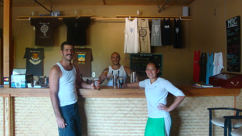Kim Lutz and Garret Marrero in the Tasting Room at the Maui Brewing Co Brewery
