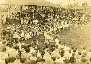 Scene From the First 'Orange Bowl' Festival at Moore Park in Miami, Florida