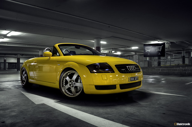 for sale 2003 imola yellow audi tt quattro roadster. Black Bedroom Furniture Sets. Home Design Ideas