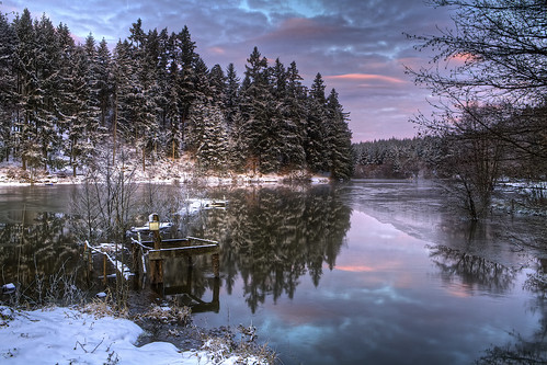 morning trees winter lake france ice water sunrise landscape outdoor hdr canoneos5dmarkii