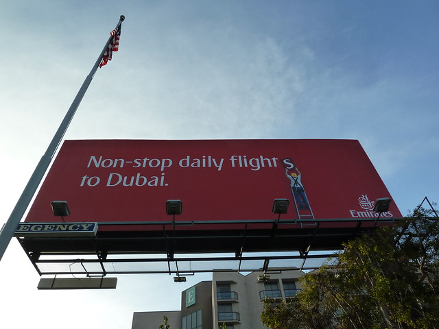 Billboard for Emirates Airlines