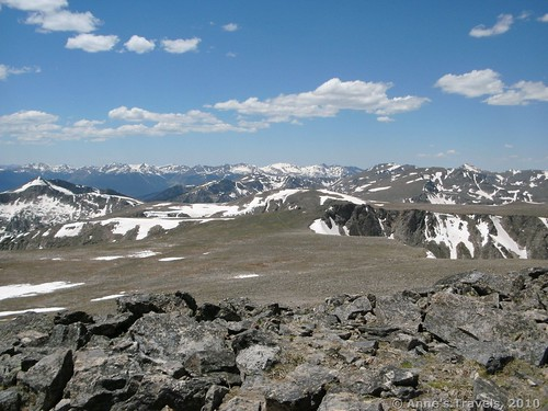 Views from Hallett Peak in Rocky Mountain National Park