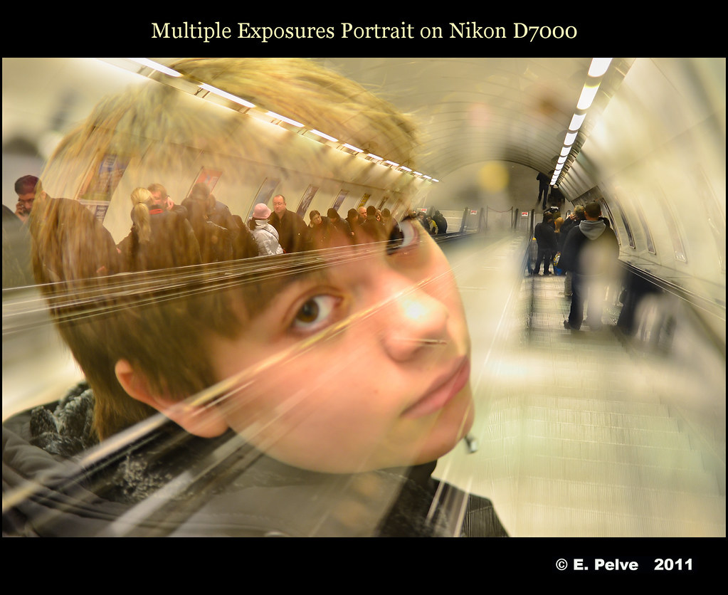 Multiple Exposures - Portrait on Nikon D7000