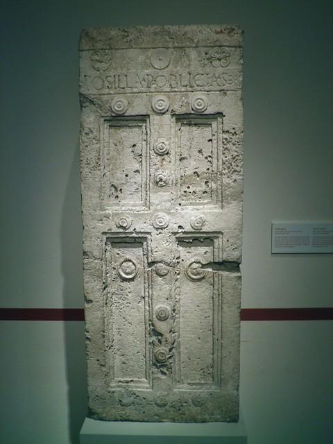 Grave Cippus, Italia Antiqua: Etruscans and Romans (Altes Museum, Berlin)