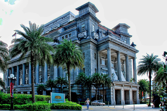 The Fullerton Hotel in Singnapore