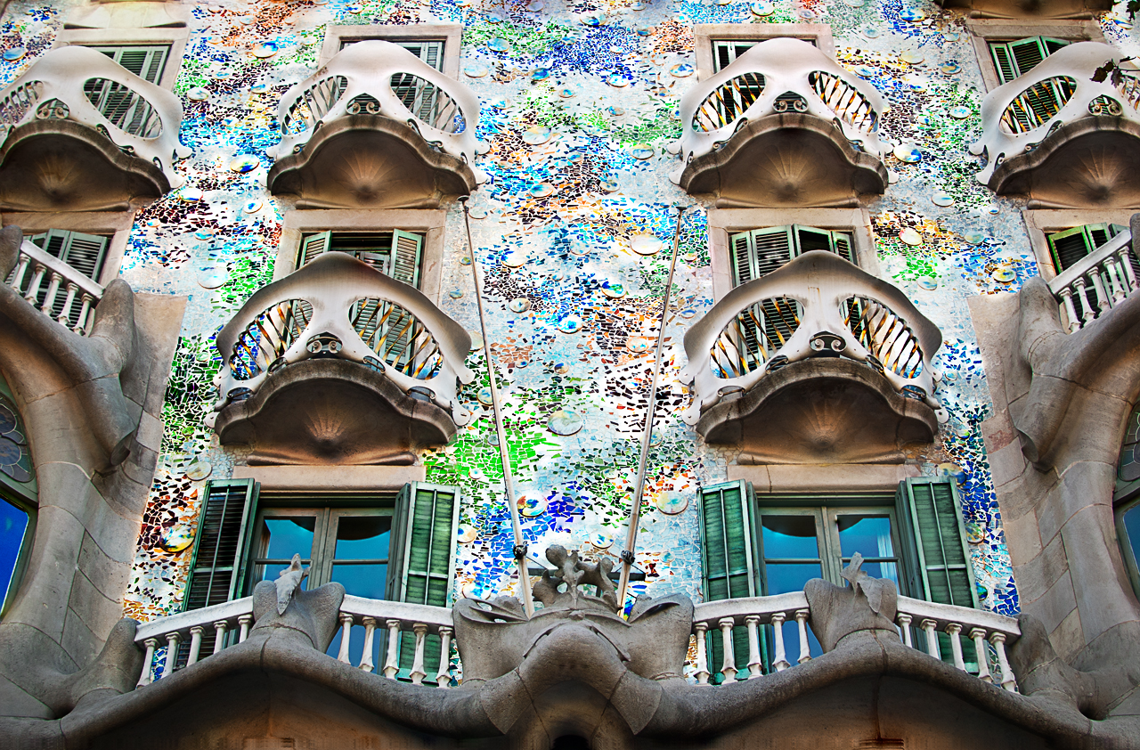 Casa Batllo balconies  Flickr - Photo Sharing!