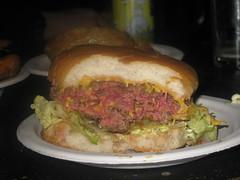 submarine sandwich(0.0), sloppy joe(0.0), veggie burger(0.0), cheesesteak(0.0), sandwich(1.0), meal(1.0), lunch(1.0), hamburger(1.0), meat(1.0), food(1.0), dish(1.0), cuisine(1.0), fast food(1.0), cheeseburger(1.0),