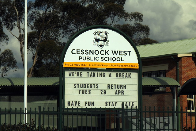 IMG 8457 Cessnock West School Sign