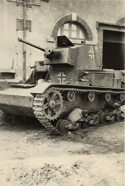 Polish 7TP captured by Germans, recaptured by Americans