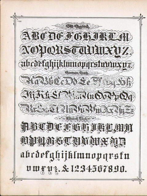 Lettering Alphabet Calligraphy Lessons 1886 Flickr