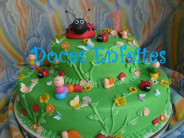 decoracao de bolo jardim encantado:Bolo Jardim Encantado