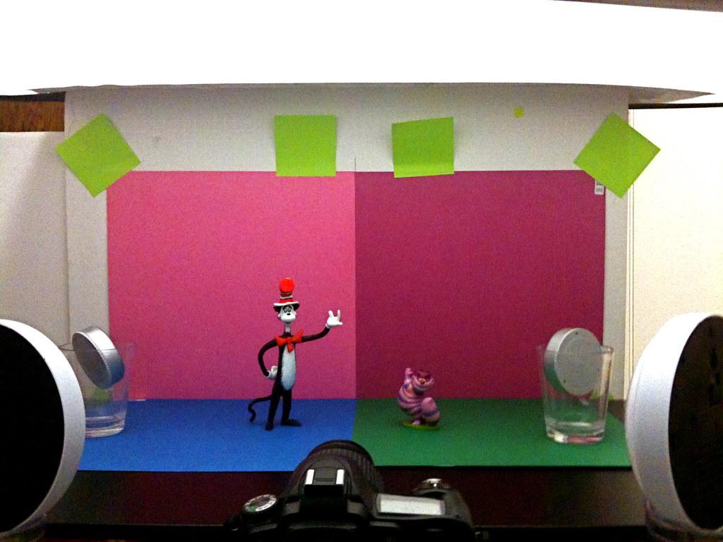 Cat in the Hat vs. Cheshire Cat Setup