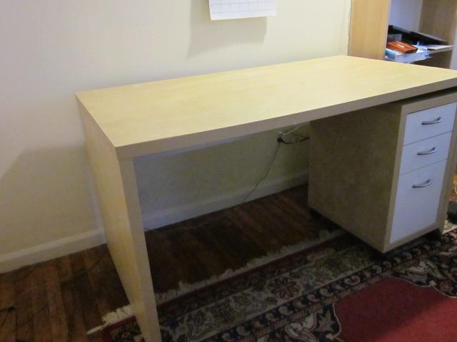 IMG_0445   Ikea MIKAEL desk, with Ikea MIKAEL drawer unit
