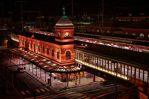 railroad clock station night train delaware wilmington hdr highdynamicrange featured delawareonline briantruono btruono