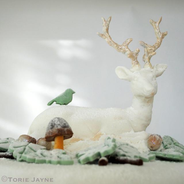 Sugar paste reindeer
