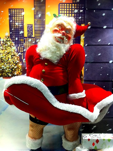 Day 88 - one of the scarier Santa's in a shop window. WTF?!