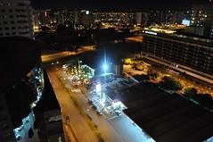 Vista noturna do Hotel Tryp Brasil 21, em Brasília