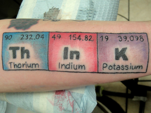 Periodic Table tattoo I did | Flickr - Photo Sharing!