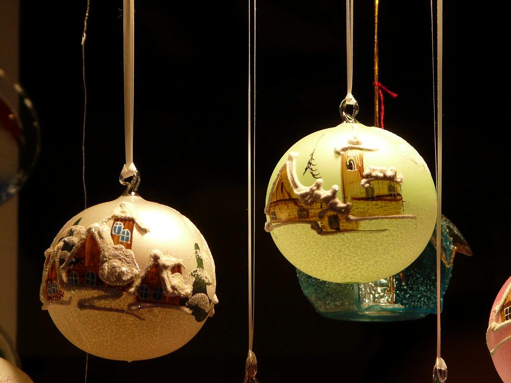 Décorations sur le Marché de Noël