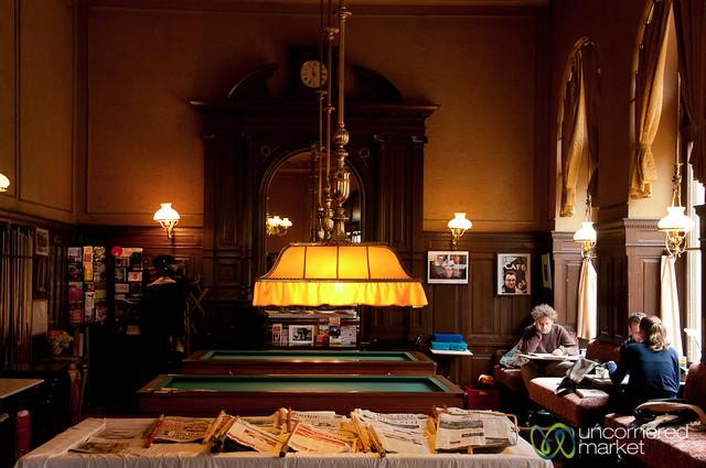 Pick Your Newspaper - Cafe Sperl in Vienna, Austria