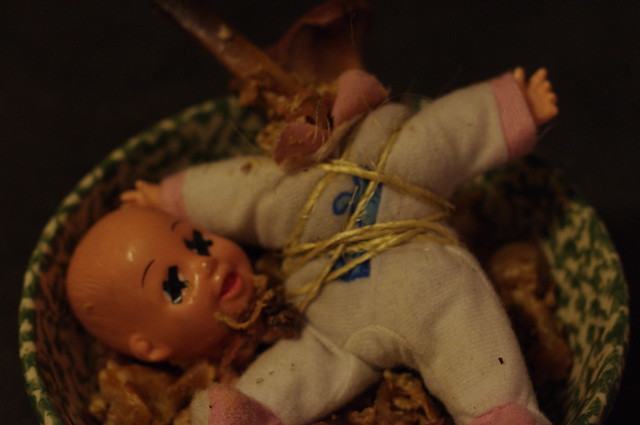Baby in a bowl, dead baby