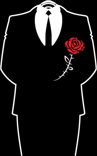 #OPERATIONPAPERSTORM Anonymous Suit & Rose - Black