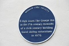 Photo of George Inn, Ludlow blue plaque