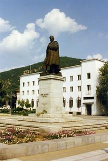 Благоевград - Гоце Делчев Monument. Gotse Delchev. Blagoevgrad,  Bulgaria. 1996